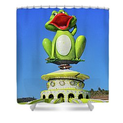 Froggy Shower Curtain by Don Pedro De Gracia