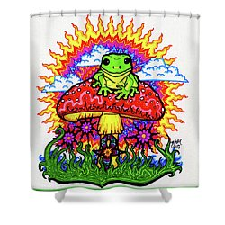 Froggy For Mukunda Shower Curtain