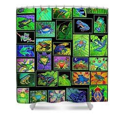 Frogs Poster Shower Curtain