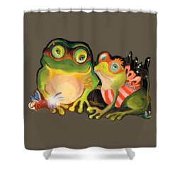 Frogs Transparent Background Shower Curtain
