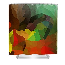 Frolic In The Woods Shower Curtain by David Lane