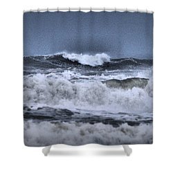 Shower Curtain featuring the photograph Frolicsome Waves by Jeff Swan