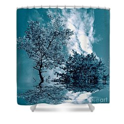 Frollicking Shower Curtain by Elfriede Fulda