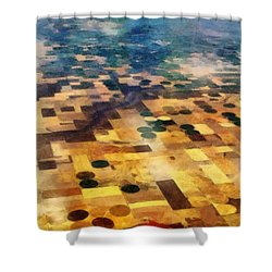 From Above Shower Curtain by Michelle Calkins
