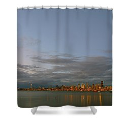 From Alki - Cloudy Night Shower Curtain