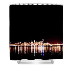 From Alki -wide Shower Curtain