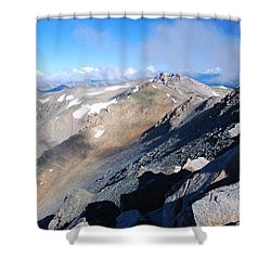 Shower Curtain featuring the photograph From Atop Mount Massive by Cascade Colors