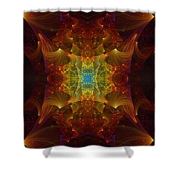 From Chaos Arisen Shower Curtain by Lea Wiggins