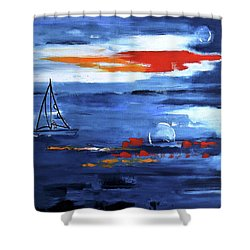 From Cleveland Point Shower Curtain