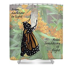 From Darkness To Light Shower Curtain