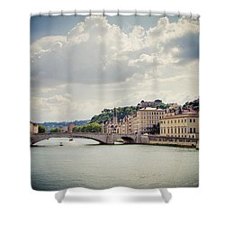 Shower Curtain featuring the photograph From Here To There by Jason Smith