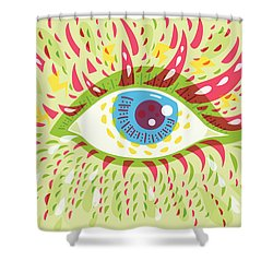 From Looking Psychedelic Eye Shower Curtain