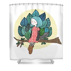 From My Throne Of Leaves, From My Bed Of Grass Shower Curtain