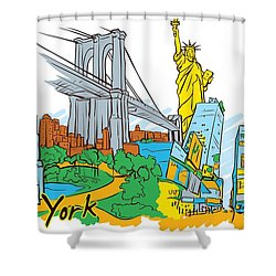 From Old To New York Shower Curtain by Stanley Mathis