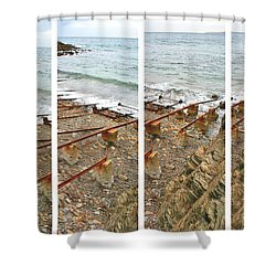 Shower Curtain featuring the photograph From Ship To Shore by Stephen Mitchell
