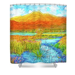 From Sky To Mountain To Stream - Boulder County Colorado Shower Curtain