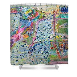 Shower Curtain featuring the painting From The Altered City by Fabrizio Cassetta
