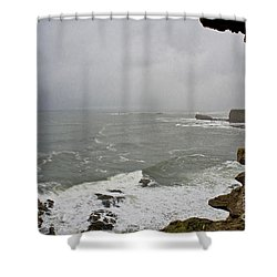 From The Castle Wall Shower Curtain