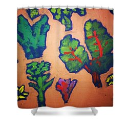 Shower Curtain featuring the painting From The Earth 2 by Winsome Gunning