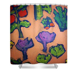 Shower Curtain featuring the painting From The Earth by Winsome Gunning