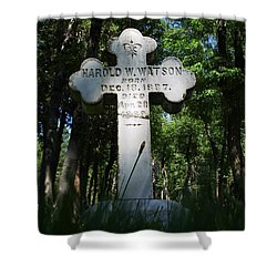 From The Grave No4 Shower Curtain by Peter Piatt