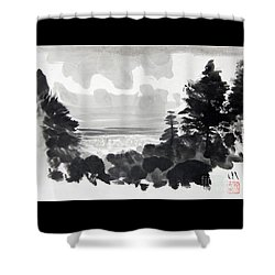 From The Hill Shower Curtain