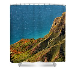 Shower Curtain featuring the photograph From The Hills Of Kauai by Debbie Karnes