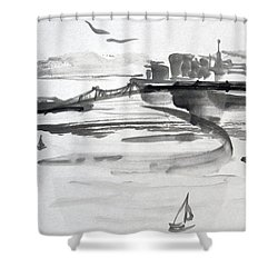 From The Marina Shower Curtain