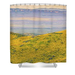 From The Temblor Range To The Caliente Range Shower Curtain by Marc Crumpler