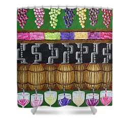 Shower Curtain featuring the painting From Vine To Wine by Katherine Young-Beck