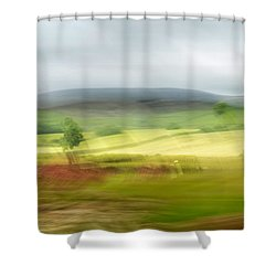 heading north of Yorkshire to Lake District - UK 1 Shower Curtain