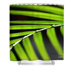 Frond Geometry Shower Curtain