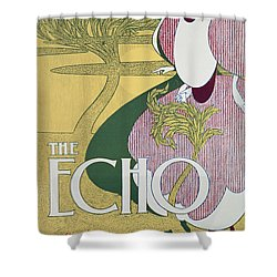 Front Cover Of The Echo Shower Curtain by William Bradley