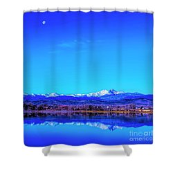 Front Range View With Moon Shower Curtain