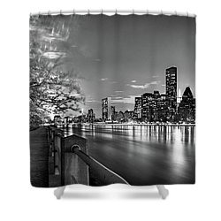 Shower Curtain featuring the photograph Front Row Roosevelt Island by Az Jackson