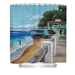 Front Street Lahaina Shower Curtain