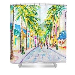 Front Street Philipsburg St. Maarten  Shower Curtain