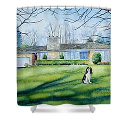 Shower Curtain featuring the painting Front Yard Protection by Hanne Lore Koehler