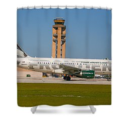 Frontier Airline Shower Curtain