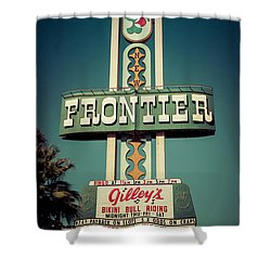 Frontier Hotel Sign, Las Vegas Shower Curtain