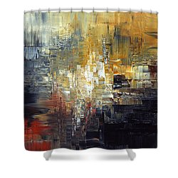 Shower Curtain featuring the painting Frost At Midnight by Tatiana Iliina