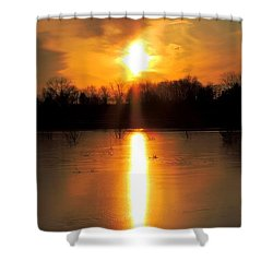Frost Fire  Shower Curtain
