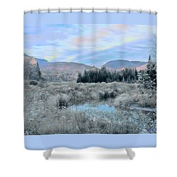 Frost On The Bogs Shower Curtain by John Selmer Sr