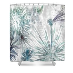 Shower Curtain featuring the digital art Frosted Abstract by Methune Hively