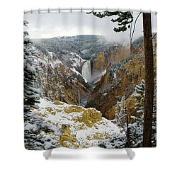Shower Curtain featuring the photograph Frosted Canyon by Steve Stuller