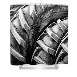 Shower Curtain featuring the photograph Frosted Tires by Brad Allen Fine Art