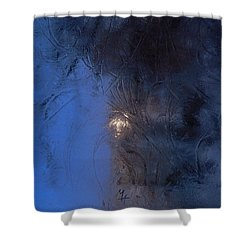 Frostwork - Engraved Night Shower Curtain