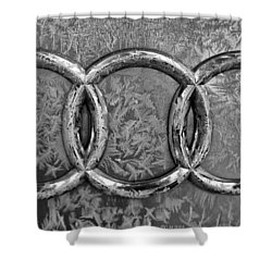 Frosty Audi Shower Curtain by Catherine Melvin