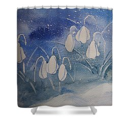 Frosty Bells Shower Curtain