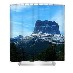 Frosty Chief Mountain Shower Curtain